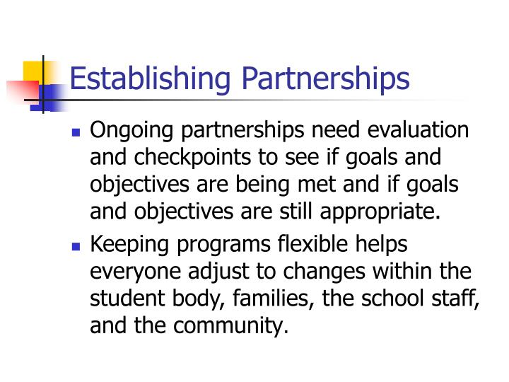 Establishing Partnerships