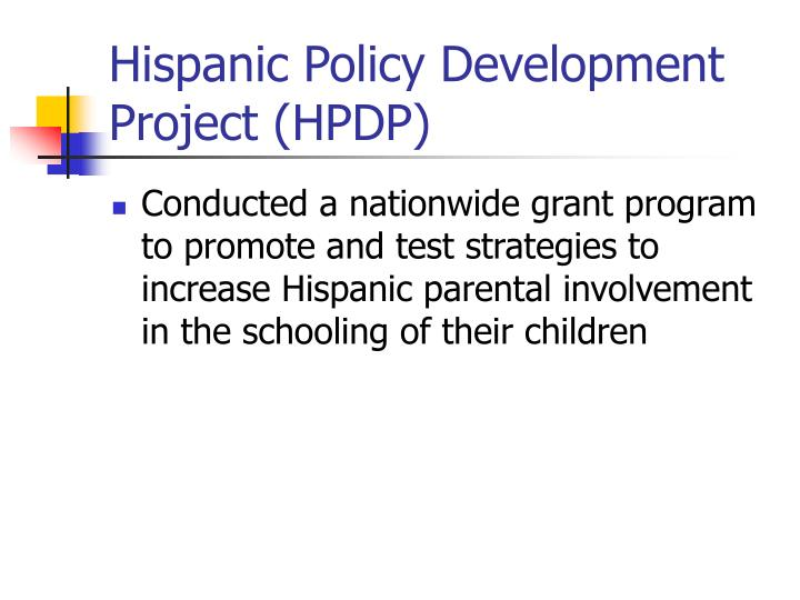 Hispanic Policy Development Project (HPDP)