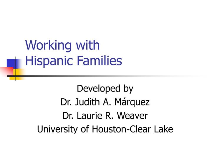 Working with hispanic families