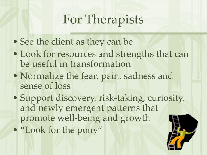 For Therapists