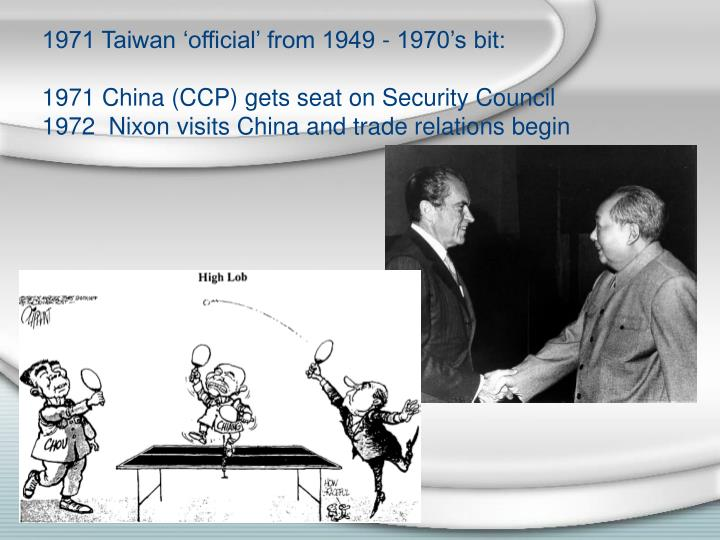 1971 Taiwan 'official' from 1949 - 1970's bit: