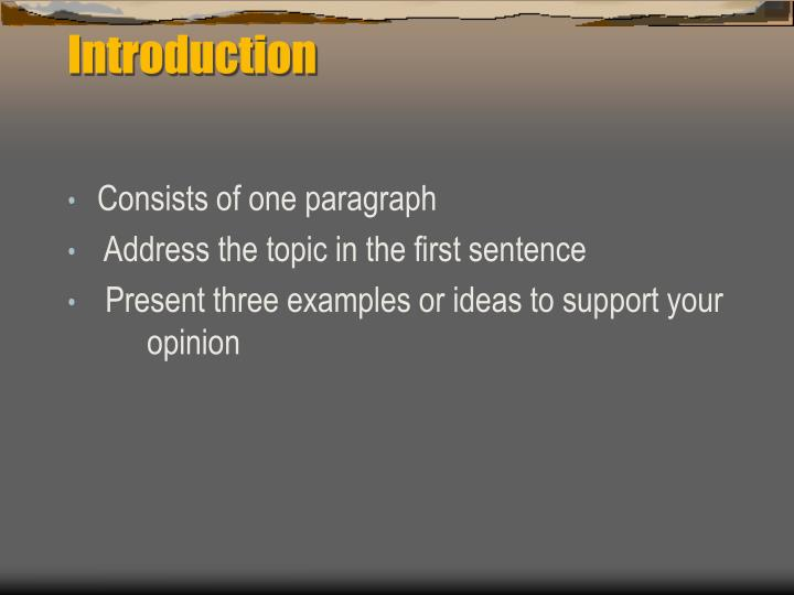 parts of essay powerpoint Traditional academic essays in three parts is to think of them as containing the meat of your essay: main idea the part of a topic sentence that states the.