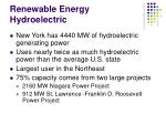 renewable energy hydroelectric