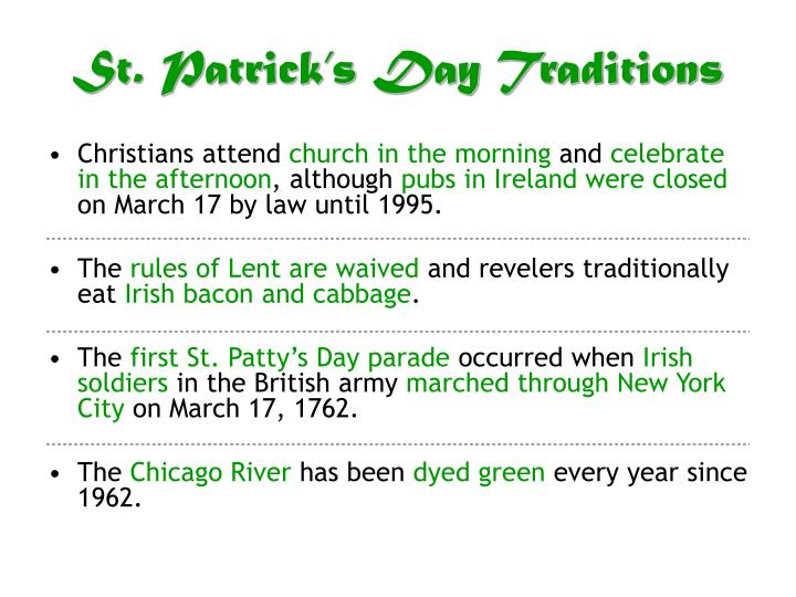 St patrick s day traditions