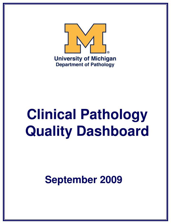 Clinical Pathology