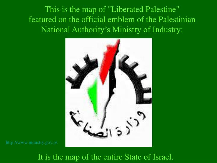 "This is the map of ""Liberated Palestine"""