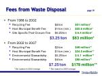 fees from waste disposal page 19