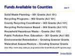 funds available to counties page 21