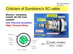 criticism of sumitomo s sc cable