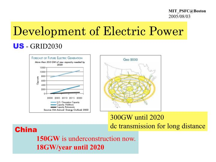 Development of Electric Power
