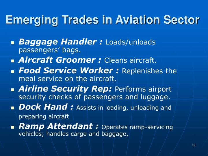 Emerging Trades in Aviation Sector