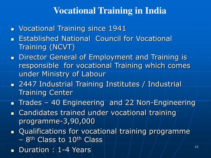 Vocational Training in India