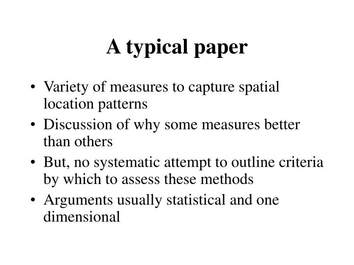 A typical paper