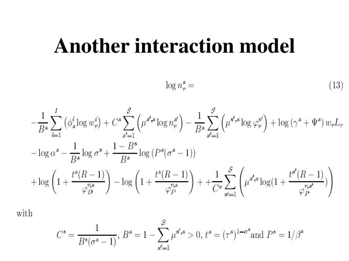 Another interaction model
