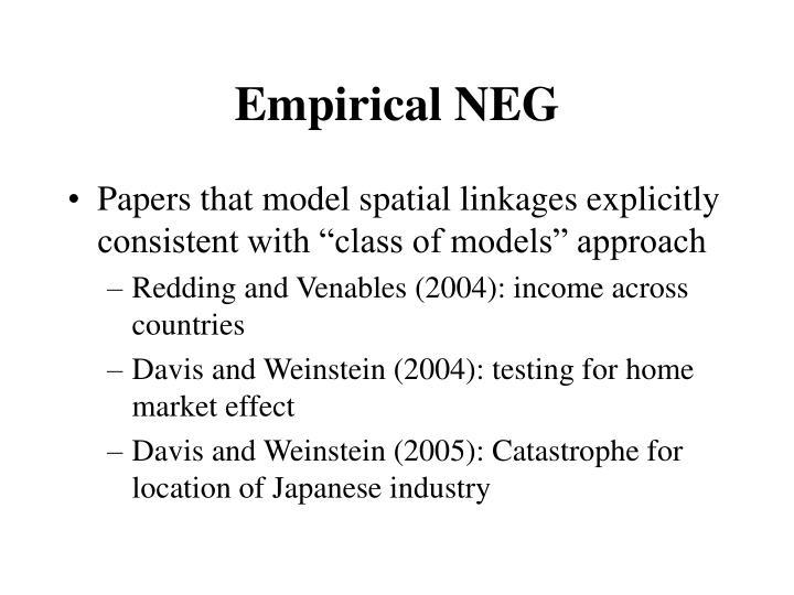 Empirical NEG