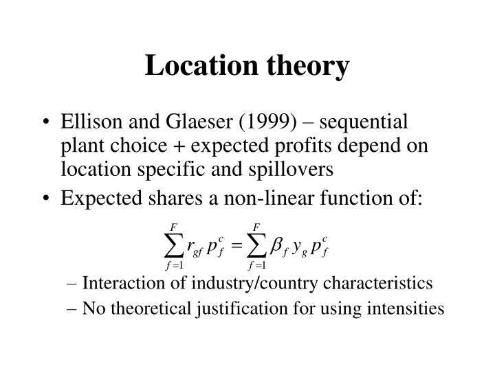 Location theory