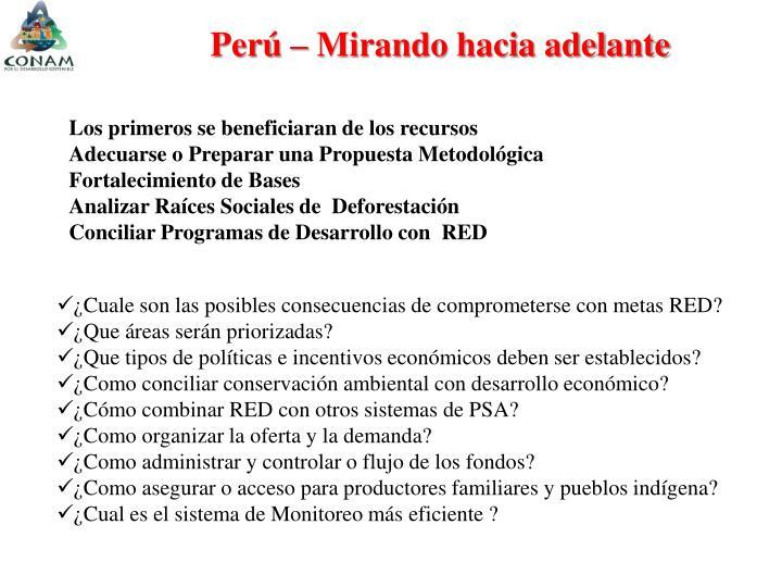 Perú – Mirando hacia adelante