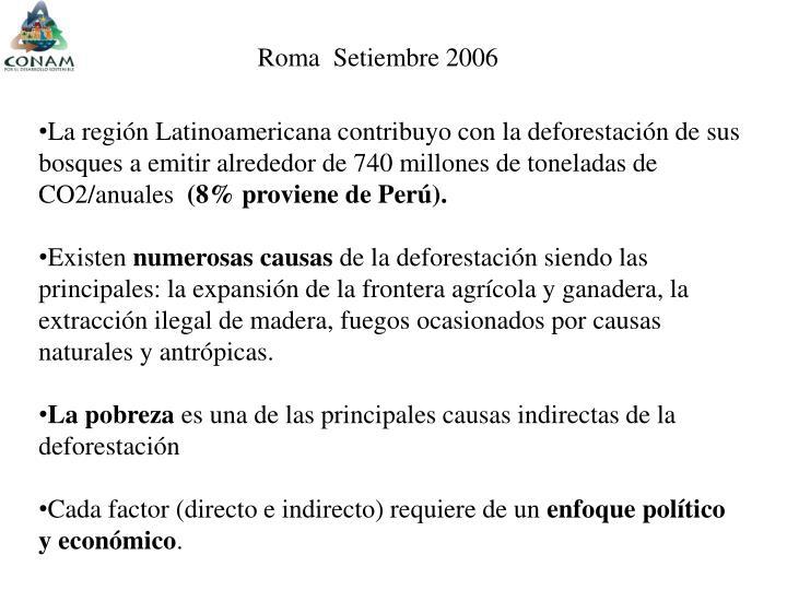 Roma  Setiembre 2006
