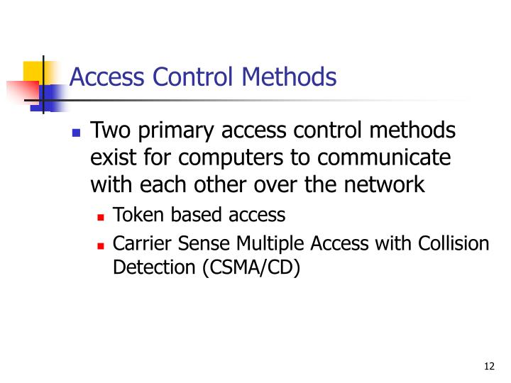 Access Control Methods