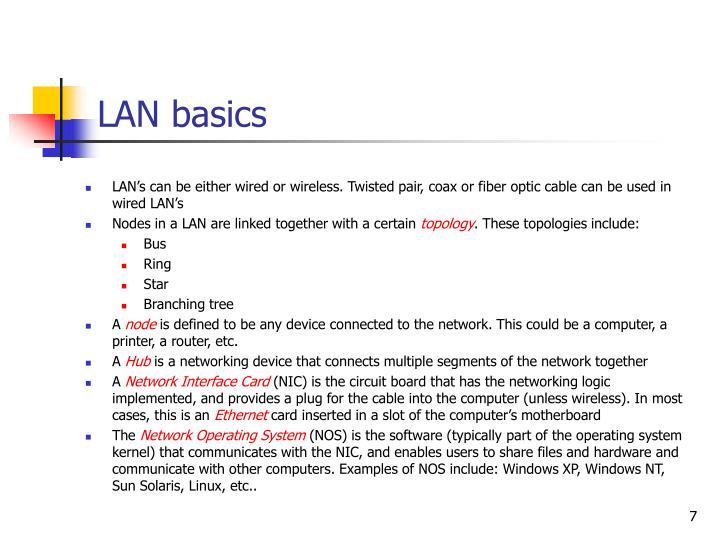 LAN basics
