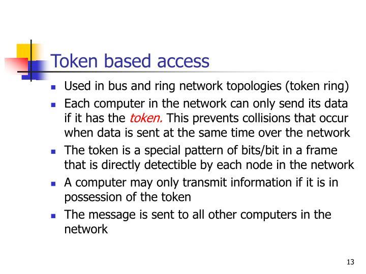 Token based access