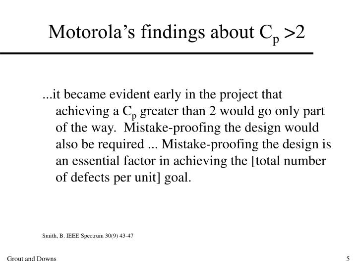Motorola's findings about C