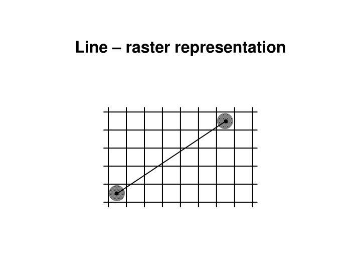 Line – raster representation