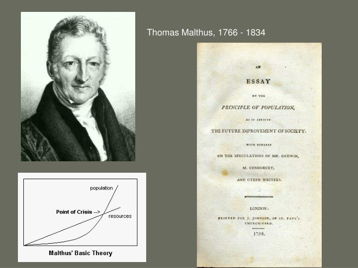 Thomas Malthus, 1766 - 1834