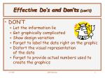 effective do s and don ts con t