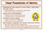 visual presentation of metrics