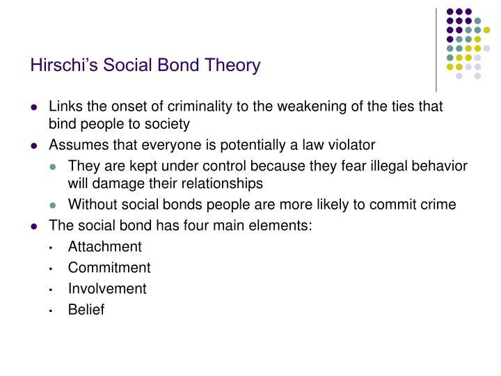 Hirschi's Social Bond Theory