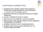 social reaction labeling theory