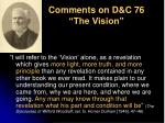 comments on d c 76 the vision