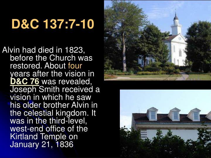 D&C 137:7-10