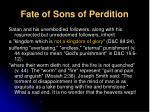 fate of sons of perdition