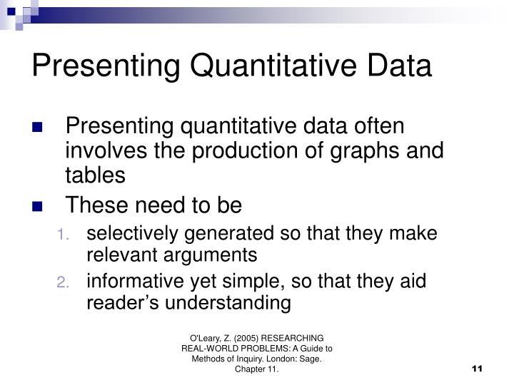 Presenting Quantitative Data