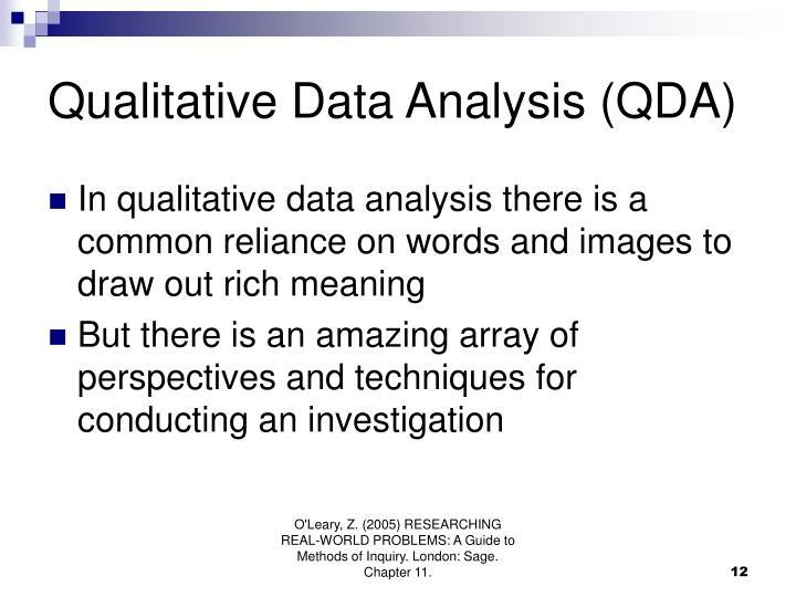 Qualitative Data Analysis (QDA)