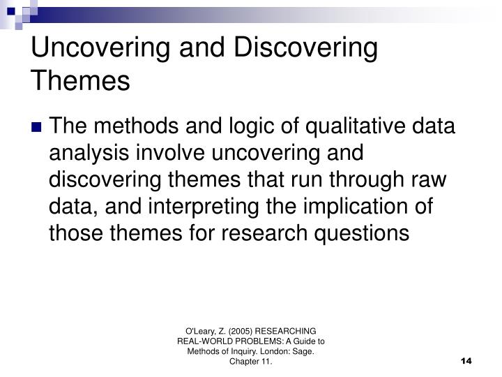 Uncovering and Discovering Themes
