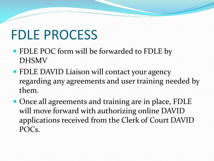 FDLE PROCESS