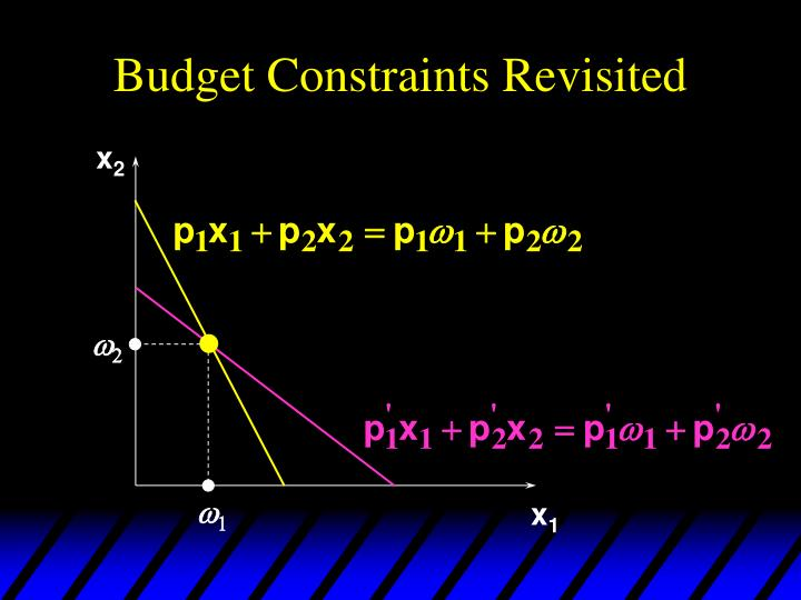 Budget Constraints Revisited