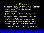 net demands