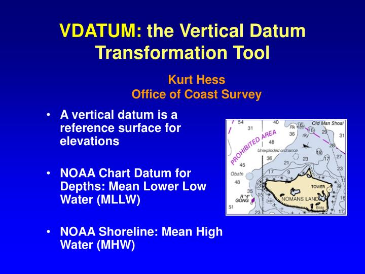 Vdatum the vertical datum transformation tool