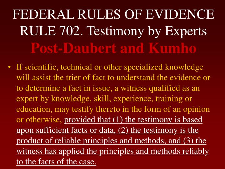federal rules of evidence Federal rules of evidence: overview in the united states, the federal courts must follow the federal rules of evidence (fre) state courts generally follow their own.