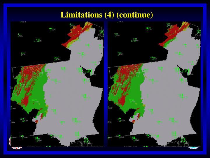 Limitations (4) (continue)