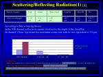 scattering reflecting radiation 1 1