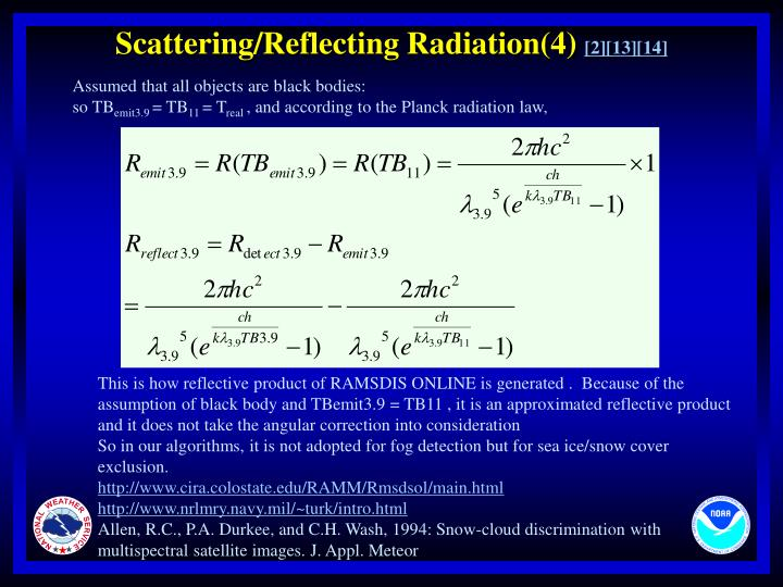 Scattering/Reflecting Radiation(4)