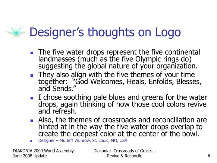 Designer's thoughts on Logo