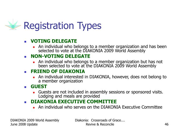Registration Types