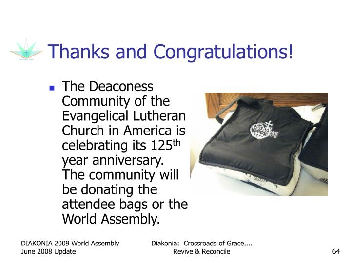 The Deaconess Community of the Evangelical Lutheran Church in America is celebrating its 125