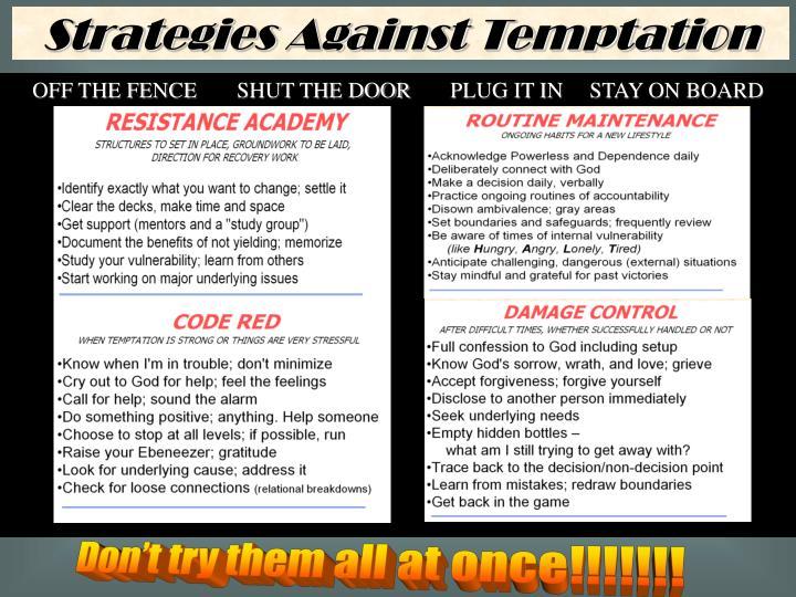 Strategies Against Temptation